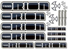 Dekorbogen Team Orion Schwarz