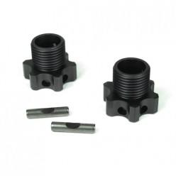TKR5071c-Wheel Hubs (17mm, lightened, aluminum,2mm offset, w/pins, 2 Stück)