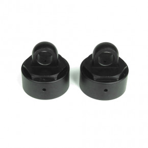 TKR6003-Vented Shock Caps (aluminum, gun metal anodized, 2pcs)