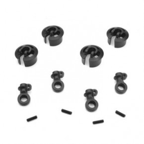 TKR6140B – Locking Shock Rod End and Tall Spring Perch Set (revised, 16mm shocks)
