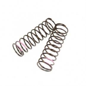 TKR8764-LF Shock Spring Set (front, 1.6×11.0, 3.82lb/in, 75mm, pink)