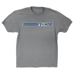 Tekno RC T-Shirt Gr.L (horizontal design, lightweight, graphite heather)