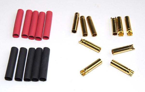 Goldbuchse 4mm geschlitzt -10er Pack