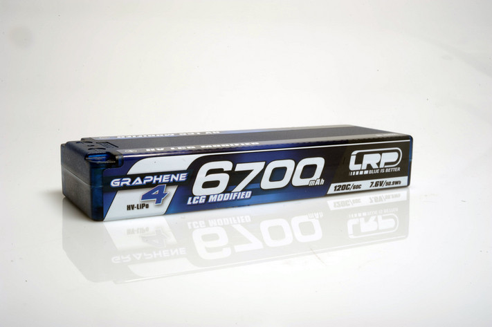 HV LCG Modified GRAPHENE-4 6700mAh Hardcase Akku - 7.6V LiPo - 120C/60C - 274g