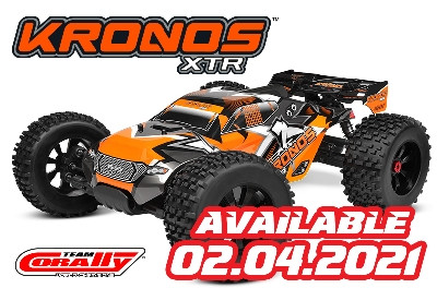 Team Corally - KRONOS XTR 6S - Model 2021 - 1/8 Monster Truck LWB - Roller Chassis