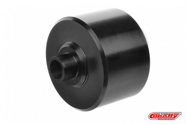 Team Corally - Xtreme Diff Case - 35mm - Aluminium 7075 - Hard Anodised - Black - Center