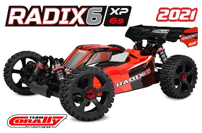 Team Corally - RADIX XP 6S - Model 2021 - 1/8 Buggy EP - RTR - Brushless Power 6S