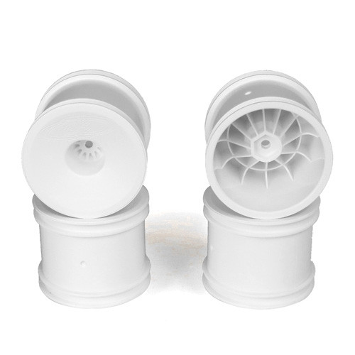 DE Racing Speedline Truck Wheels für ET410/ Associated T5M / Front/Rear/ White/ 4pcs