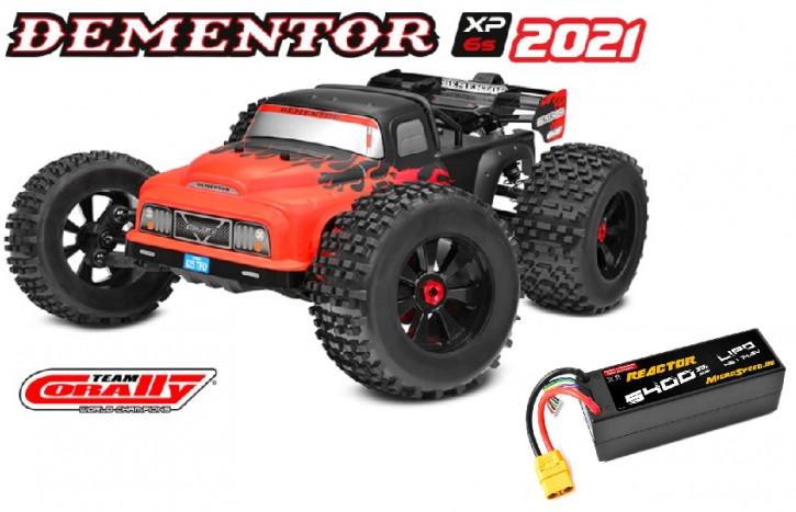 Team Corally DEMENTOR XP 6S  Top Deal mit Akku -Model 2021 - 1/8 Monster Truck SWB - RTR