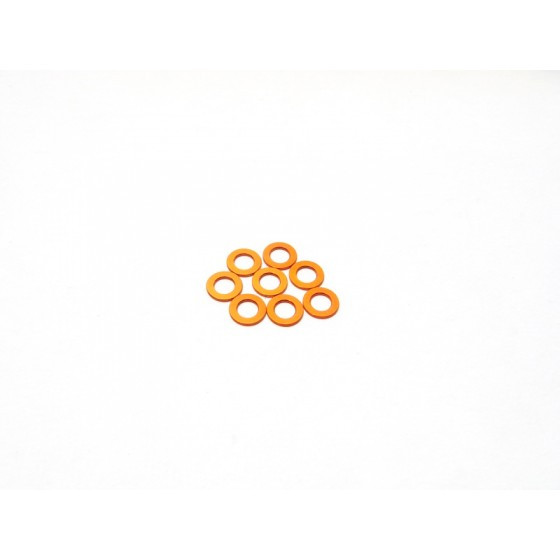 Hiro Seiko 3mm Alloy Spacer Set (0.5mm) [Orange]