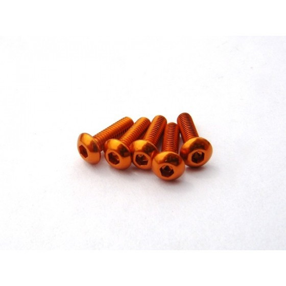 Hiro Seiko Alloy Hex Socket Button Head Screw M3x12 [Orange] ( 5 pcs)