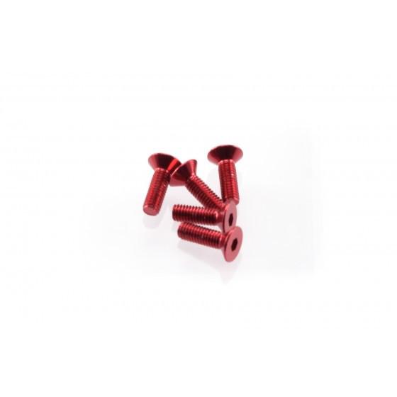 Hiro Seiko Alloy Hex Socket Flat Head Screw M3x10 [Red] ( 5 pcs)