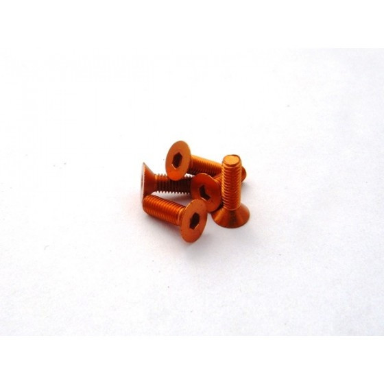 Hiro Seiko Alloy Hex Socket Flat Head Screw M3x10 [Orange] ( 5 pcs)