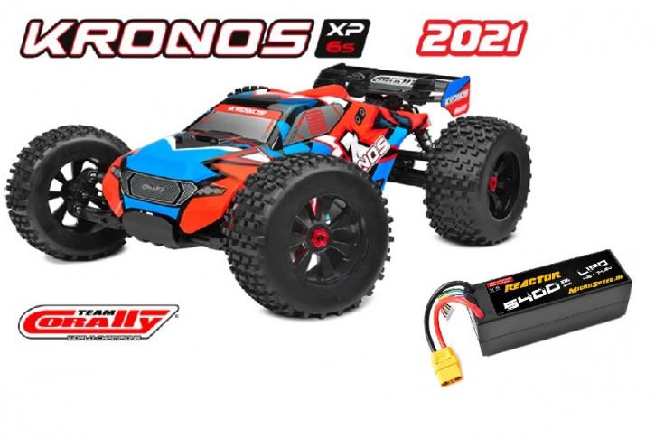 Team Corally Kronos XP 6S  Top Deal mit Akku -Model 2021 - 1/8 Monster Truck SWB - RTR