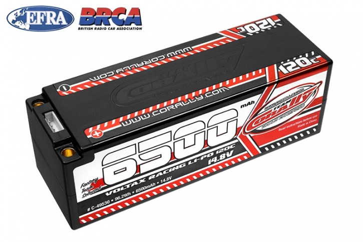 Team Corally - 120C LiPo Battery - 6500mAh - 14.8V - Stick 4S - 5mm Bullit