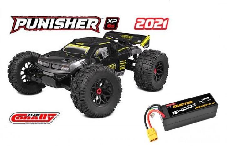 TeamCorally-PunisherXP6S-Top Deal mit Akku 1/8 Monster Truck LWB - RTR - Brushless Power 6S