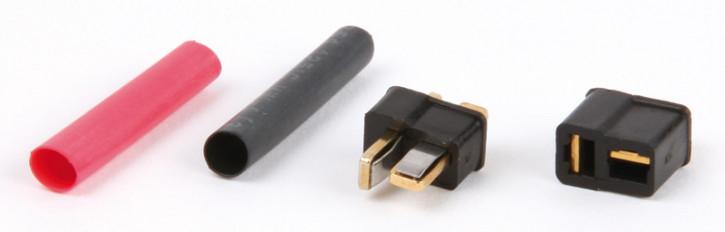 Hi-Amp Mini Steckverbinder vergoldet 2 polig 1 Paar