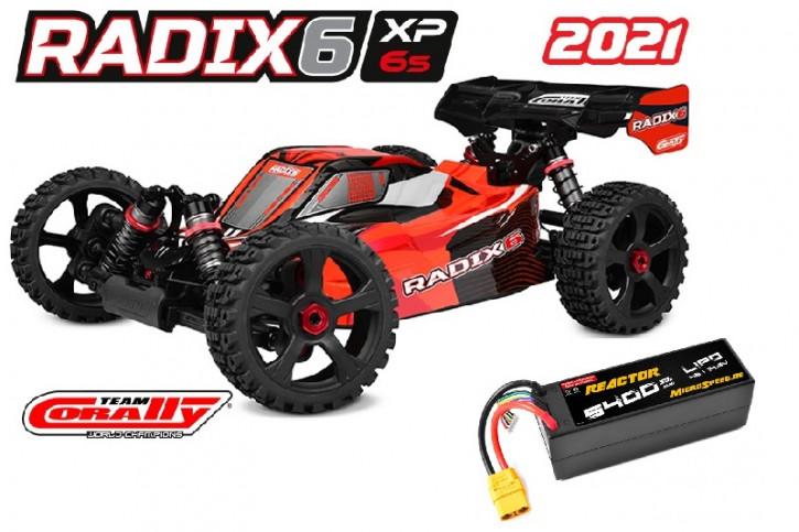 Team Corally Radix XP 6S  Top Deal mit Akku -Model 2021 - 1/8 Monster Truck SWB - RTR