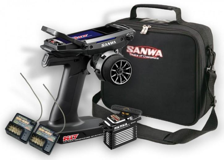 M17 Sonder-Set mit 2x RX-491 + PGS-XB II + Tasche SANWA SURFACE CH4 2.4GHz FH5 Ultra Response Mode