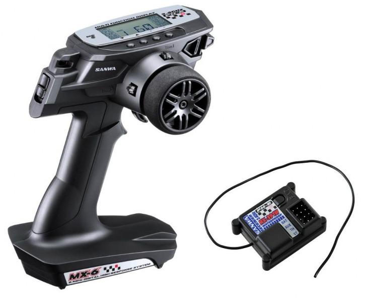 Sanwa MX-6 DRY 3 Kanal+RX-391W(waterproof Empfänger)/ohne Servos/2.4GHz