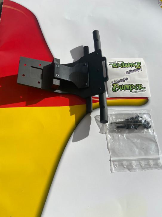 Oktay Bumper Tekno MT410 schwarz Doppelstrebe 4 mm