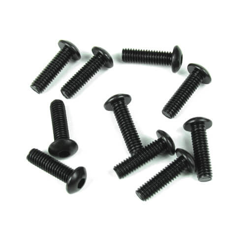 TKR1444-M4x12mm Button Head Screws (black, 10pcs)