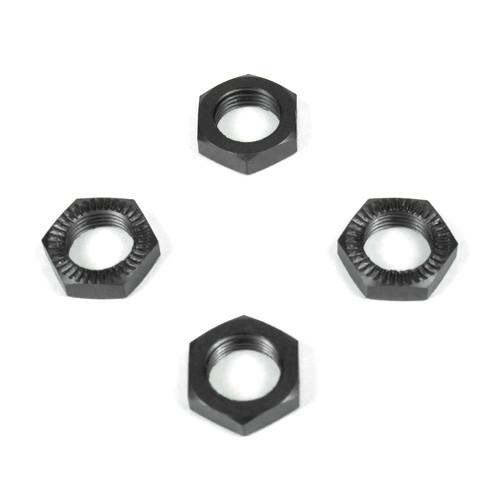 TKR5116-Wheel Nuts (17mm, serrated, gun metal anodized, M12x1.0, 4 Stück)
