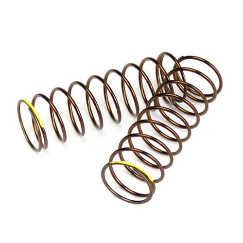 TKR6032-Shock Spring Set (rear, 1.4×10.0T, 85mm, yellow)