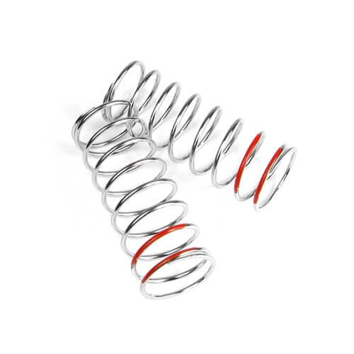 TKR6107-LF Shock Spring Set (front, 1.6×8.5, 5.29lb/in, 57mm, red)
