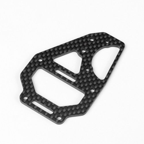 TKR6635C-Center Diff Top Plate and Fan Mount (carbon fiber, EB410)