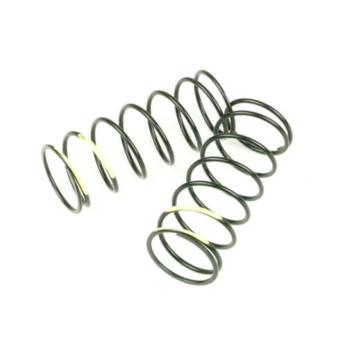 TKR7043-Shock Spring Set (front, 1.4×7.375, 5.48lb/in, 50mm, yellow)
