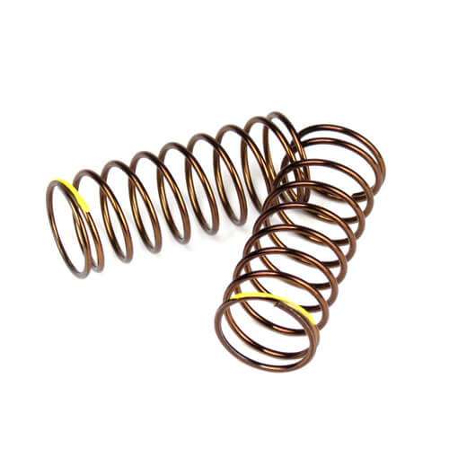 TKR7235-Shock Spring Set (front, 1.4×9.375, 4.00lb/in, 50mm, yellow)