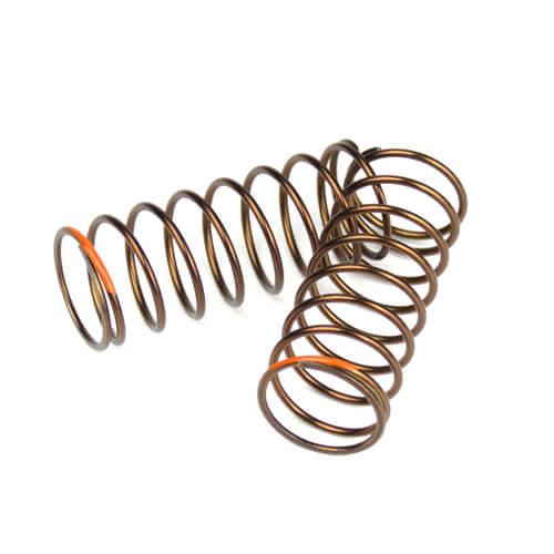 TKR7236-Shock Spring Set (front, 1.4×9.0, 4.21lb/in, 50mm, orange)