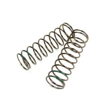 TKR8765-LF Shock Spring Set (front, 1.6×10.3, 4.14lb/in, 75mm, green)
