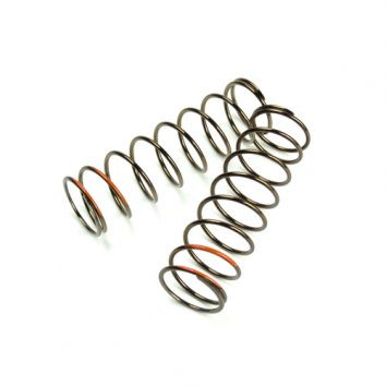 TKR8767-LF Shock Spring Set (front, 1.6×9.0, 4.91lb/in, 75mm, orange)
