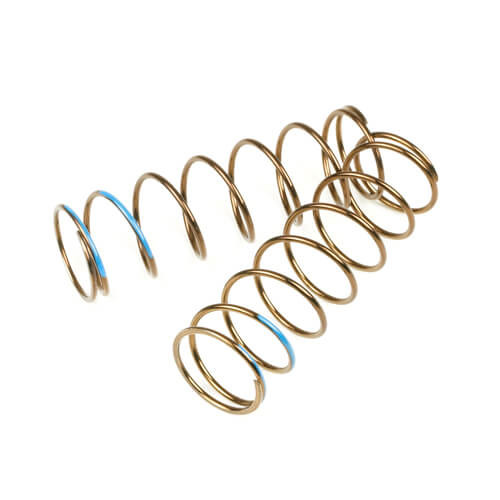 TKR8769-LF Shock Spring Set (front, 1.6×8, 5.73lb/in, 75mm, blue)