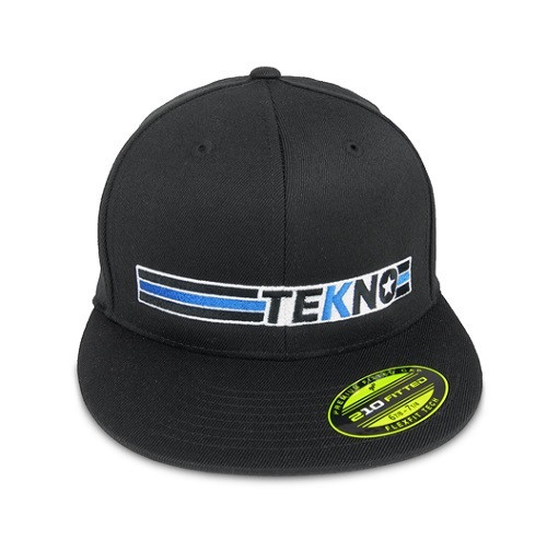 "TKRTHAT09M-Tekno RC ""Stripe"" FlexFit Hat (flat bill) Gr.M"