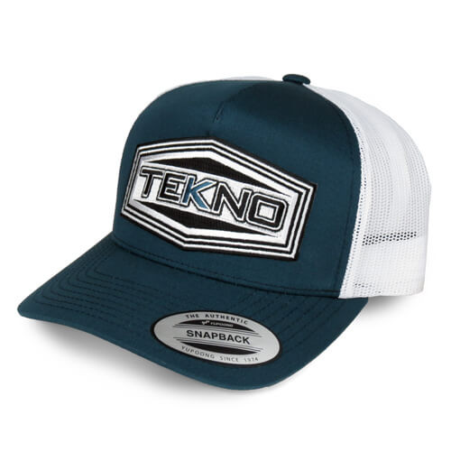 TKRHAT11R -Tekno RC Patch Trucker Hat (rond bill, mesh back, adjustable