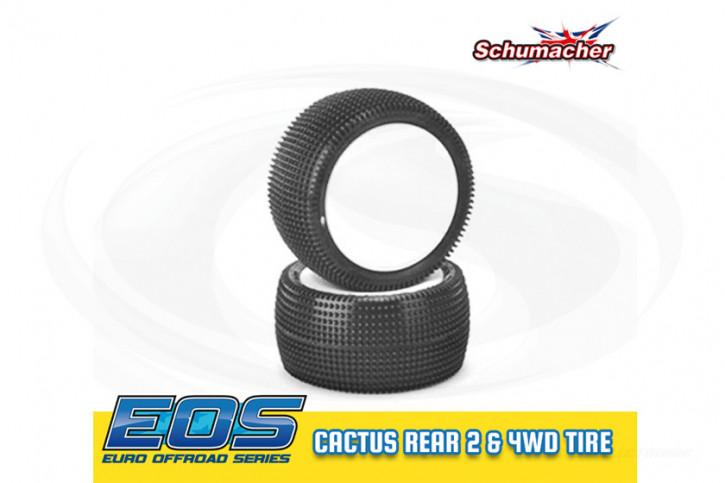 1:10 Schumacher Cactus - Rear - 2 & 4WD Komplettrad verklebt - Gelb, 12mmHex - EOS / Mibos 2017/18-