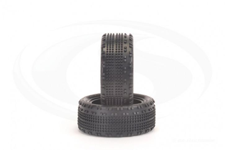 1:10 Schumacher Cactus Fusion - Front - 4WD Reifen - Gelb (2 Stück)