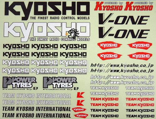Dekorbogen Team Kyosho 39778