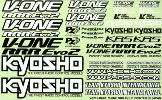 Dekorbogen Team Kyosho VZ-251