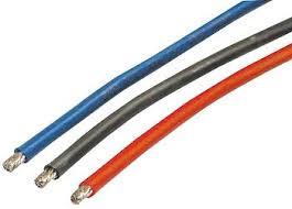 Silikonkabel Rot/Schwarz/Blau 4,0mm2 je 30cm