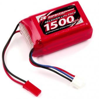 LiPo 7,4V, 1500mAh, AAA Hump Size, Empfängerpack (EH)