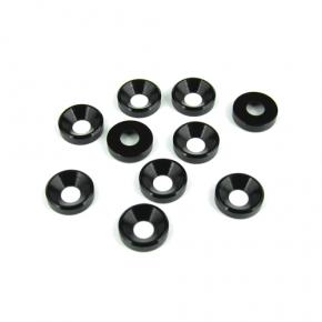TKR1228-M4 Countersunk Washers (black anodized, 10 Stück)