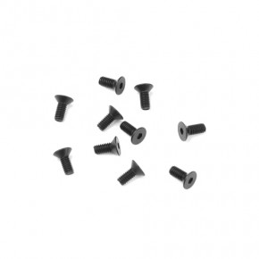 TKR1301-M2.5x6mm Flat Head Screws (black, 10pcs)