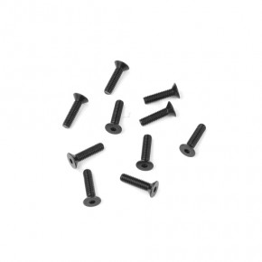 TKR1303-M2.5x10mm Flat Head Screws (black, 10pcs)