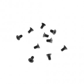 TKR1321-M3x6mm Flat Head Screws (black, 10pcs)