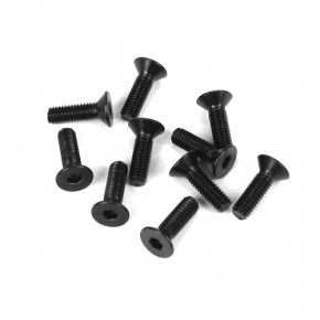 TKR1323-M3x10mm Flat Head Screws (black, 10pcs)