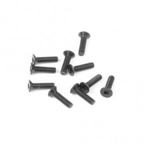 TKR1324-M3x12mm Flat Head Screws (black, 10pcs)